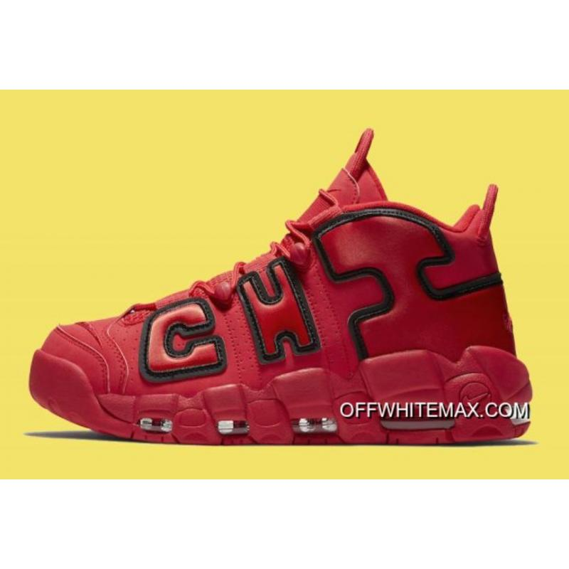 finest selection ec32a 795b7 Latest Nike Air More Uptempo QS  Chicago  Black University Red-White ...