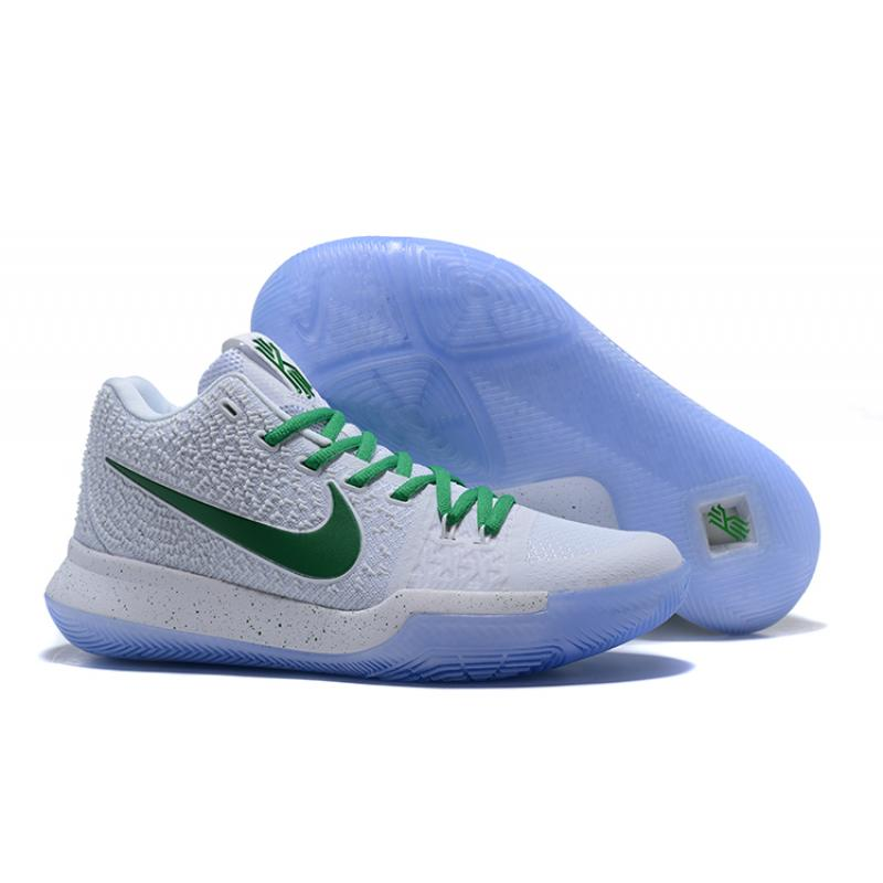 b11396f5e1c3 Nike Kyrie 3 White And Green Latest ...