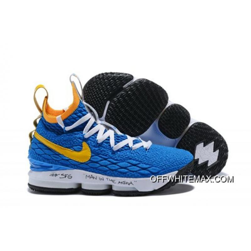 "finest selection eaeaa 5b760 Nike LeBron 15 ""Waffle Trainer"" Blue Yellow Discount"