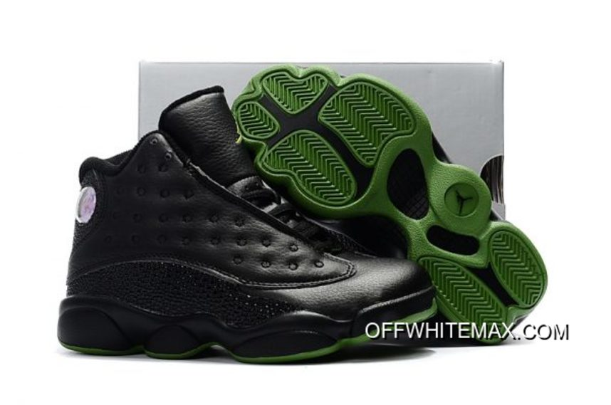 reputable site 801af 497a4 Air Jordan 13  Altitude  Black Altitude Green For Kids New Year Deals