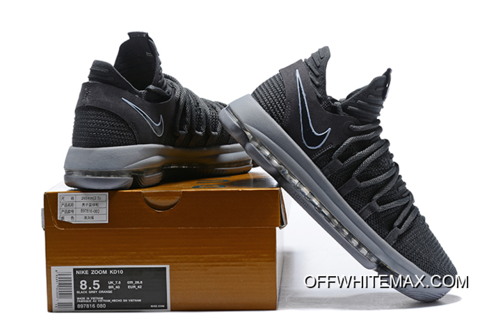 9e021525bce4 Nike KD 10 Dark Grey Reflective Silver Super Deals