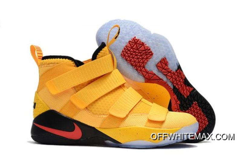 39d564bcc08b Nike LeBron Soldier 11 PE Yellow Black And Red New Style