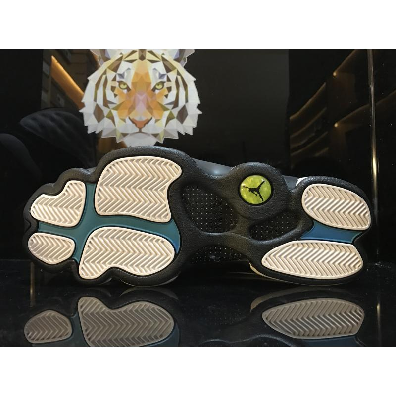 cheap for discount d763d 2a8b0 ... Air Jordan XIII (13)  Barons  White And Black-Grey-Teal ...