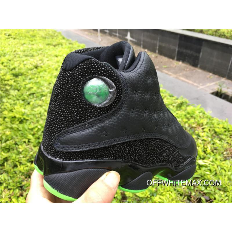 5a393e435abc64 ... Air Jordan 13  Altitude  Black And Altitude Green New Style ...