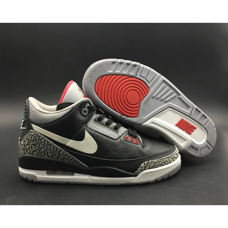 outlet store 69a0c db563 Top Deals BespokeIND's Custom Air Jordan 3 Retro Black Cement