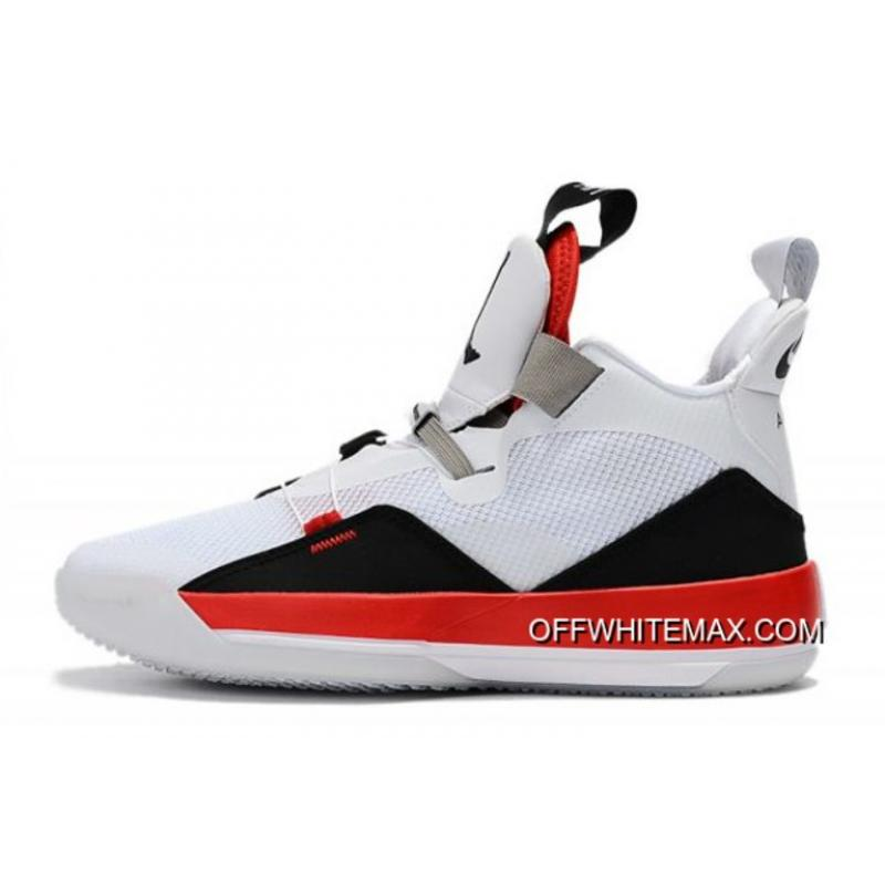"38088d178b7 Air Jordan 33 XXXIII ""Fire Red"" White/Fire Red-Black Top Deals ..."
