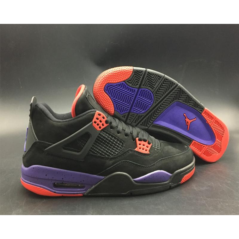 Air Jordan 4 NRG  Raptors  Black University Red-Court Purple For Sale ... 473b4047e