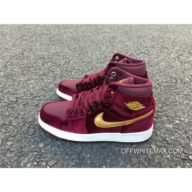 best service d0692 44974 Air Jordan 1 Retro High Velvet Night Maroon New Style