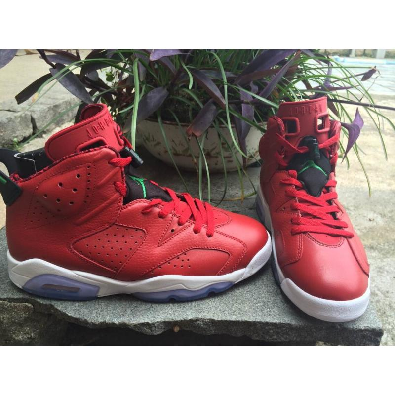 ... New Release Air Jordan 6  Varsity Red  Red And Black-White-Classic ... cf196f540
