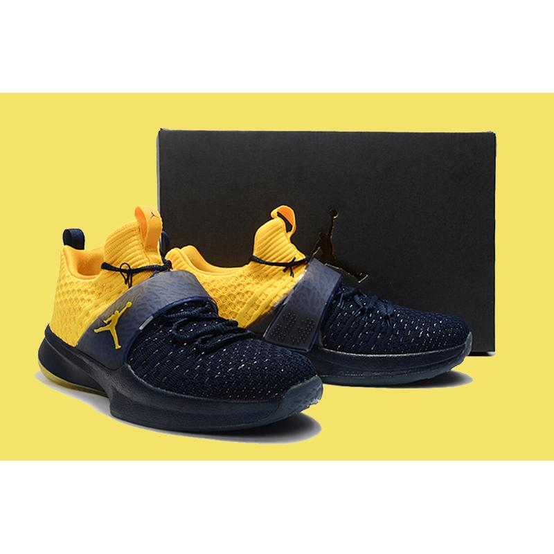 newest collection c4588 c00ec ... Jordan Trainer 2 Flyknit  Michigan  College Navy And Amarillo Latest ...