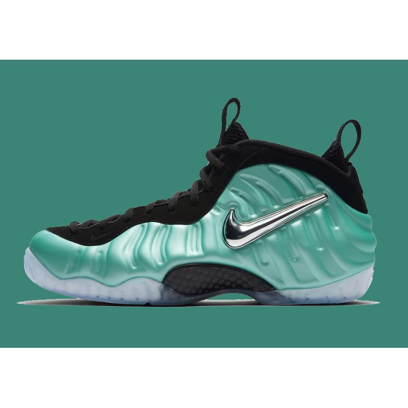 675a9b041b9 Nike Air Foamposite Pro Island Green And Metallic Platinum New Year Deals  ...