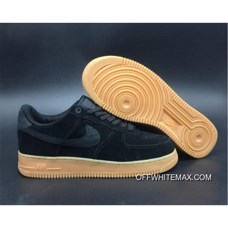 Free Shipping Nike Air Force 1  07 LV8 Suede Black Gum ... 6c36035a7