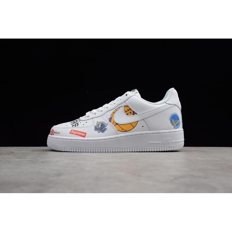 Supreme X NBA X Nike Air Force 1 Low White Free Shipping