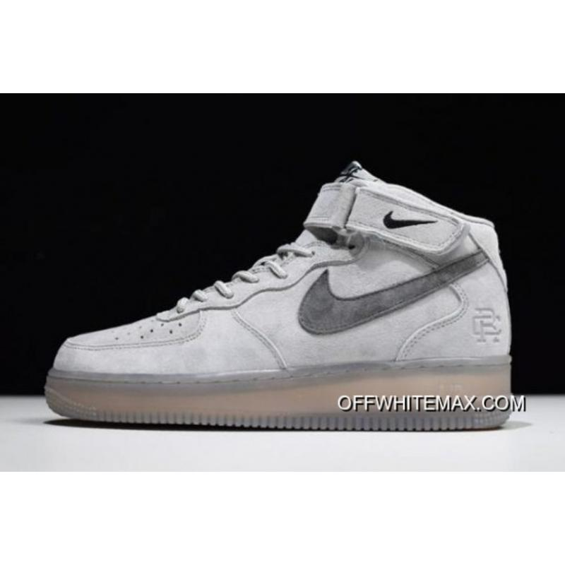 WomenMen For Sale Reigning Champ X Nike Air Force 1 Mid '07 Light GreyBlack 807618 208