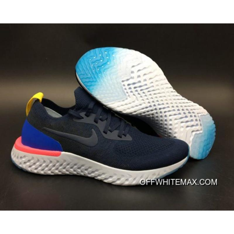 f6e7f6d25ec5 ... uk new release nike epic react flyknit running shoes college navy racer  blue pink blast 35b7a