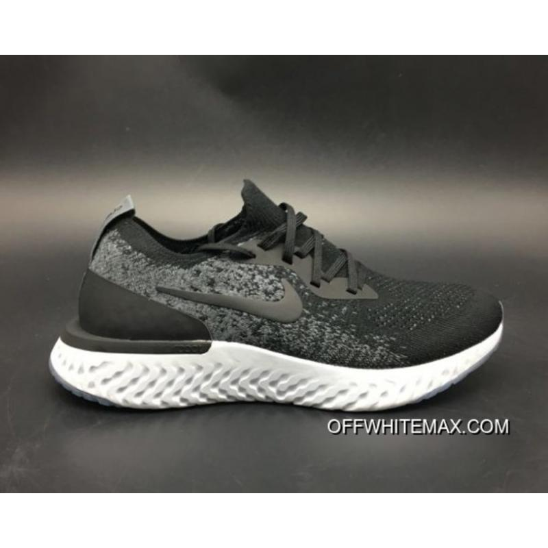 official photos 3eea6 12683 New Year Deals Nike Epic React Flyknit Running Shoes Black Dark Grey Wolf  Grey ...