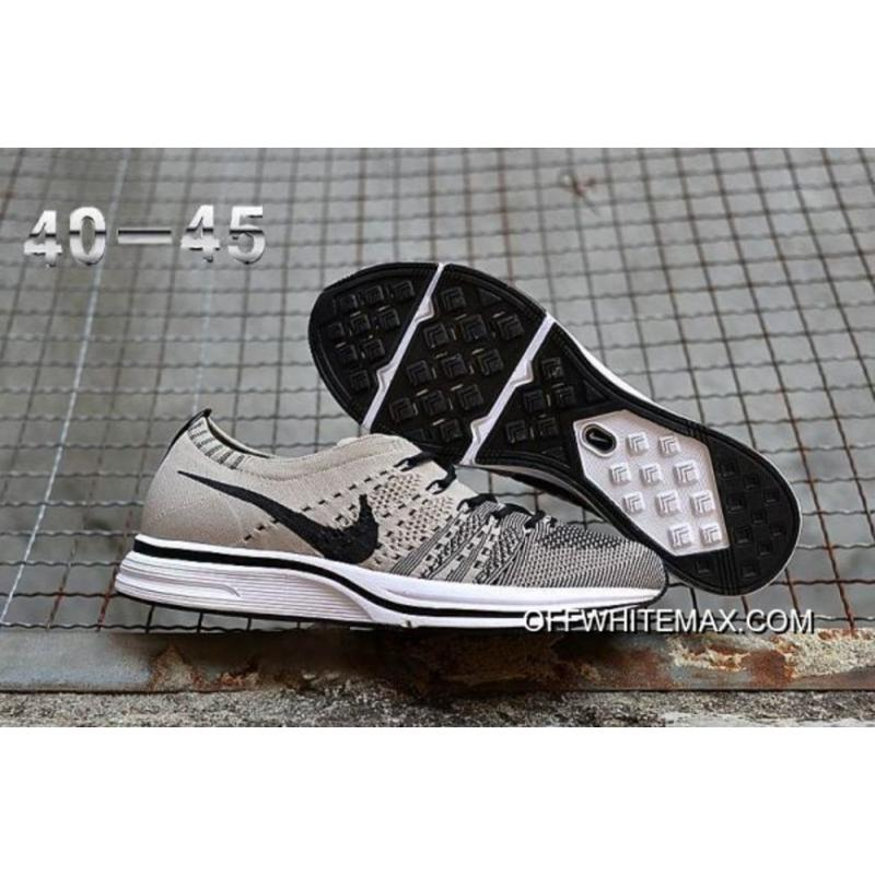a8504ded28934 Nike Flyknit Trainer Pale Grey And Black-White New Year Deals ...