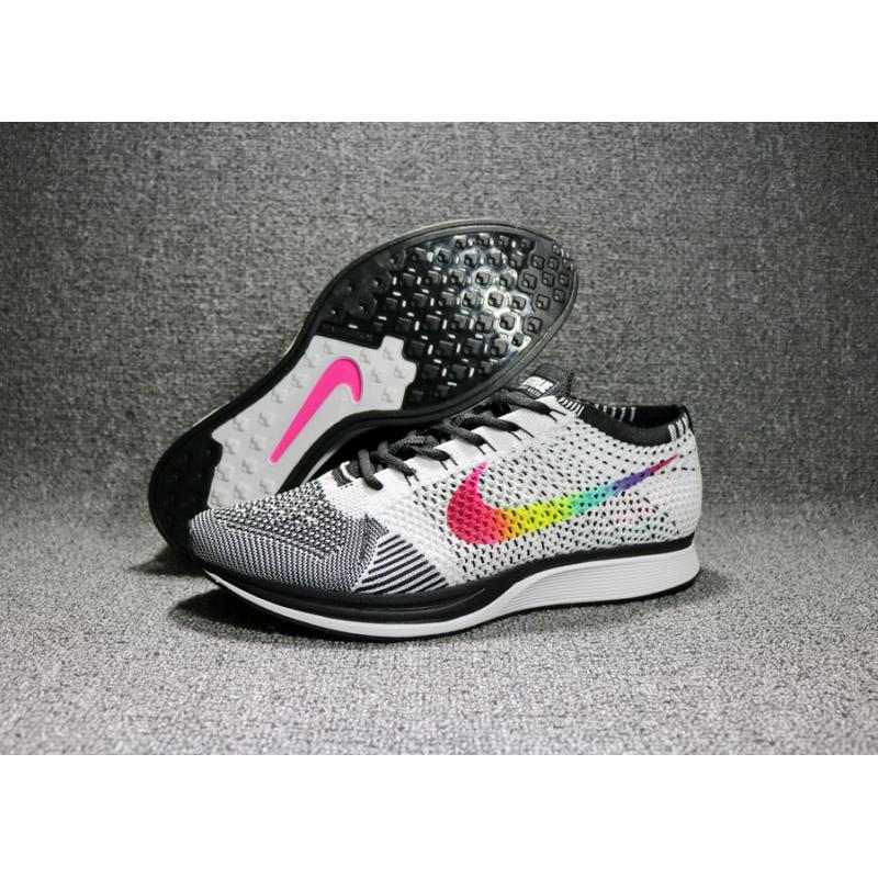 85065c3e490e4 Nike Flyknit Racer  Be True  Multi-Color Black-White Super Deals ...