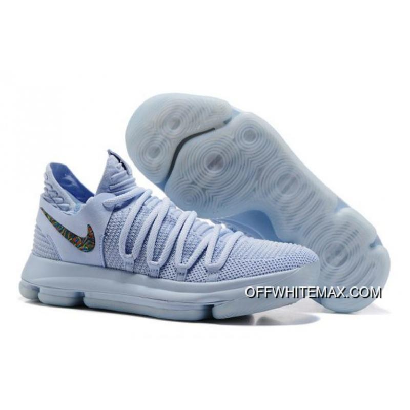 best service 42678 d686e Nike KD 10 Anniversary Faint Blue And Multi Discount ...