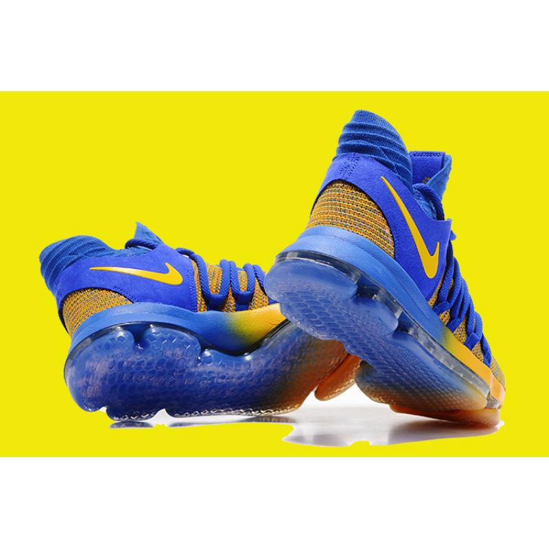 "5f13879ea4a ... For Sale Nike KD 10 ""Warriors Away"" Royal Blue Yellow ..."