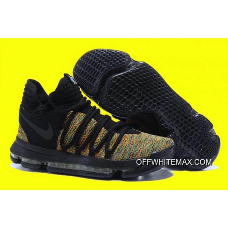 063e6d2ddcc1 New Year Deals Nike KD 10 Multicolor Black-Volt ...