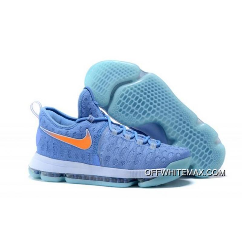 new style 89f07 8fcfd Nike KD 9 University Blue And Orange Men s Basketball Shoes Top Deals ...