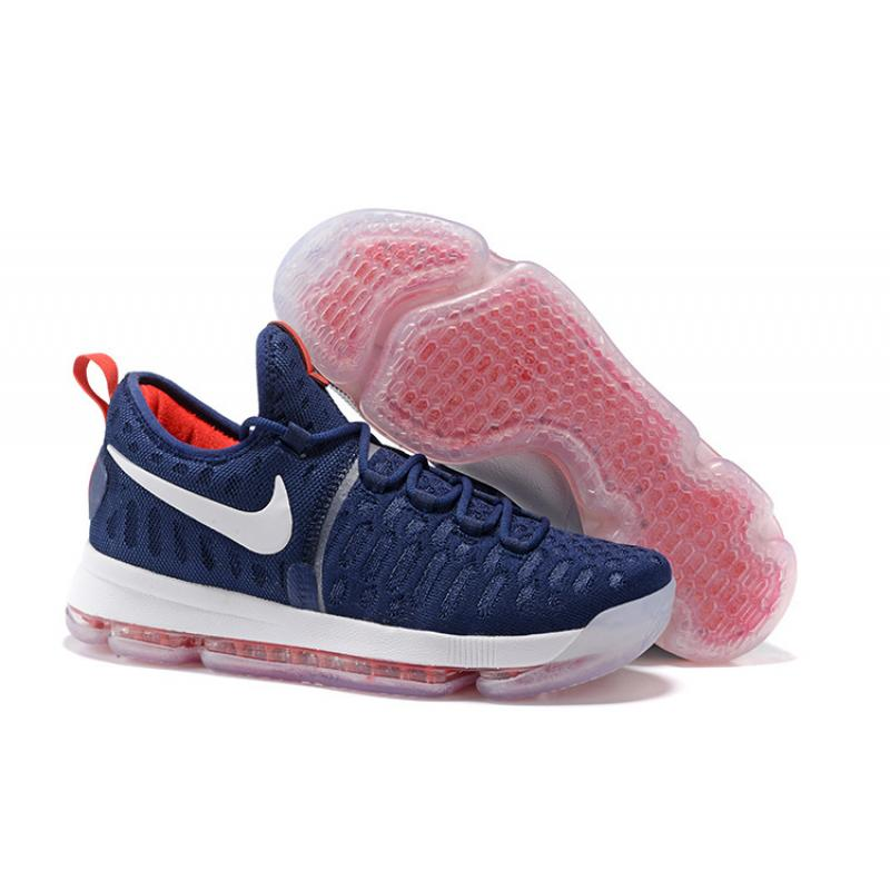 check out bfd40 30a85 New Release Nike KD 9 PE Olympic USA Vs Nigeria Navy Blue And White-Red ...