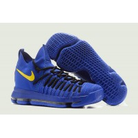050bc5db6e52 Nike KD 9 Elite  Golden State Warriors  PE Blue Yellow New Release