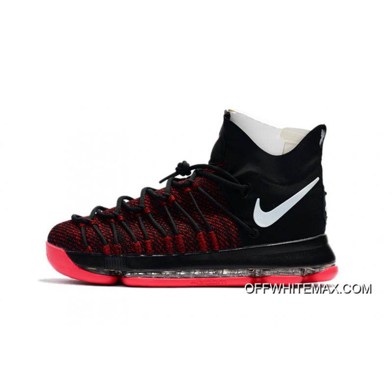premium selection db6ff 8e38c ... Discount Nike KD 9 Elite Black White Red ...