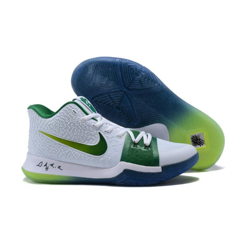 b1be2e38447e Copuon Nike Kyrie 3  Boston Celtics  PE White Green ...