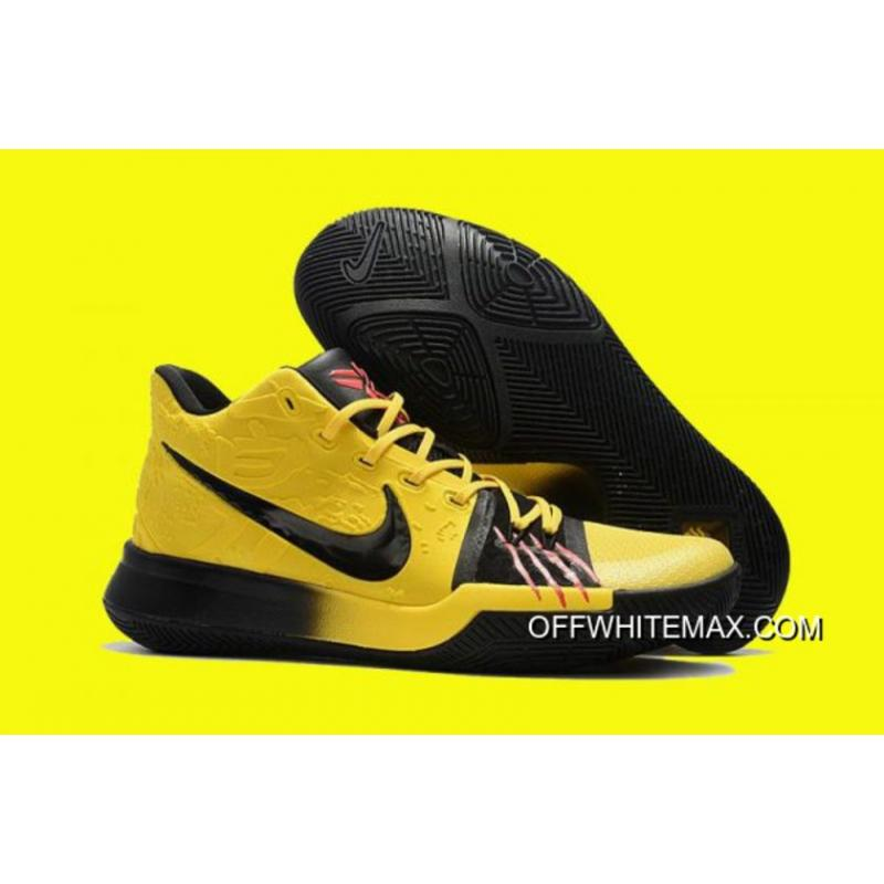 cheaper 4469d d0d58 New Year Deals Nike Kyrie 3  Mamba Mentality  Tour Yellow And Black ...