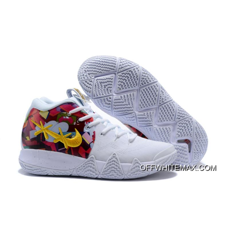 new arrival 2c0b8 3defb Best Nike Kyrie 4 White/Multi-Color