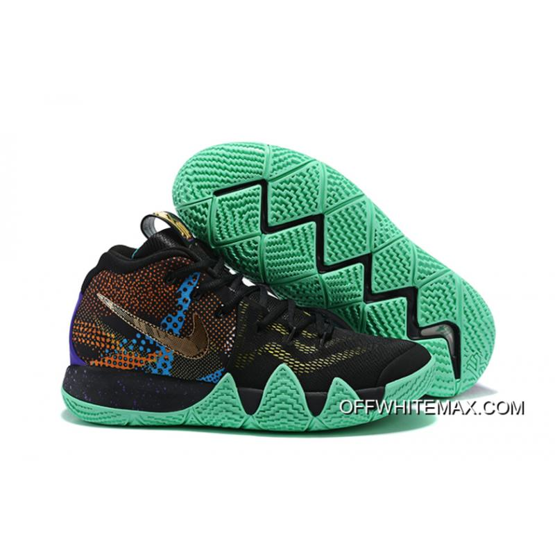 563be755ffda8d Outlet Nike Kyrie 4  Mamba Mentality  Black Sonic Yellow-Purple Venom ...