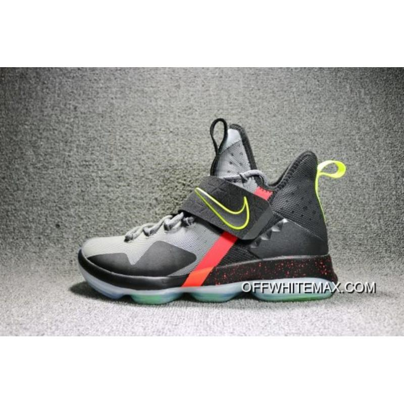 50df7ea411bf Nike LeBron 14  Out Of Nowhere  Wolf Grey  Black – Volt Bright ...