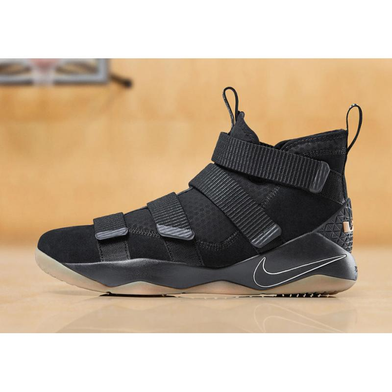 the latest e2820 b3746 New Style Nike LeBron Soldier 11 Black Gum ...