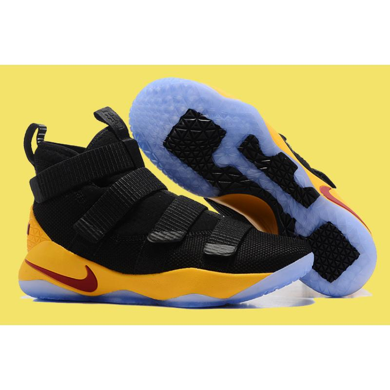 d86ddbe47915 Nike LeBron Soldier 11 Black Yellow And Wine Red Discount ...