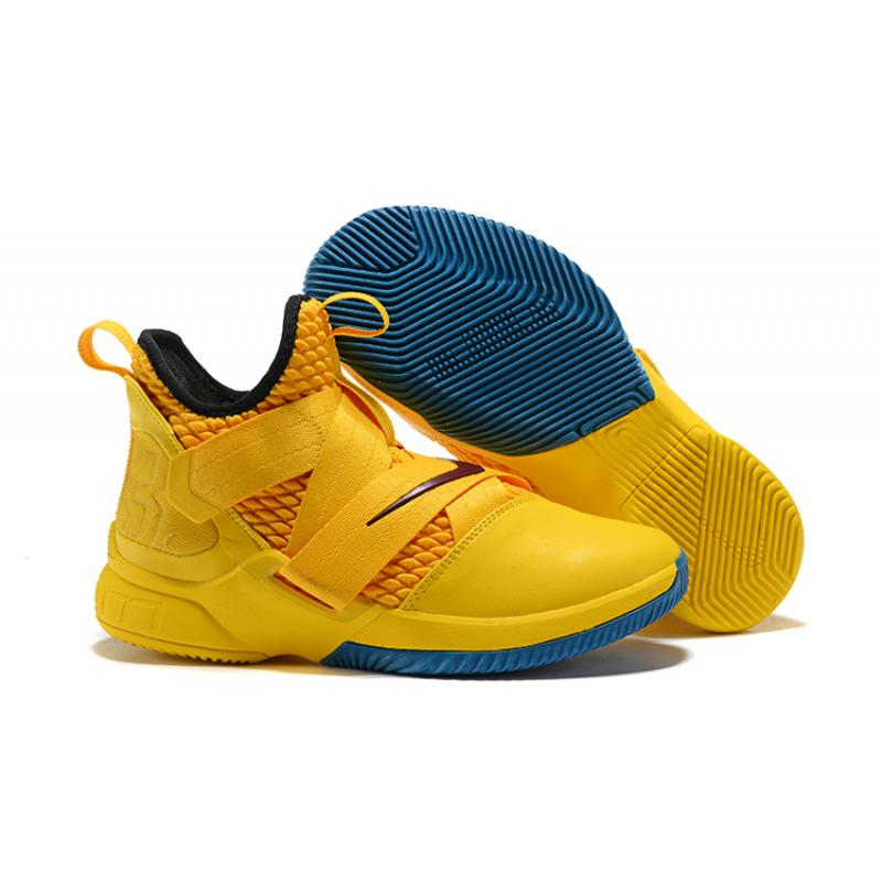16c14c71738d1 New Year Deals Nike LeBron Soldier 12  Cavs  Yellow Black ...