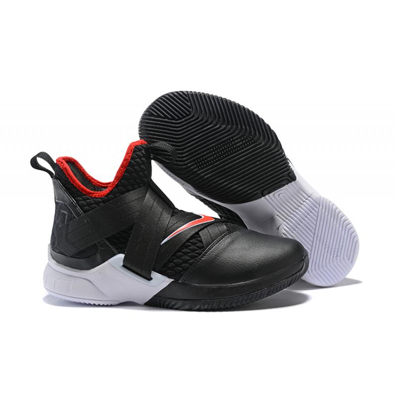 a23fb2bb5fc7 Nike LeBron Soldier 12  Bred  Black University Red-White New Year Deals ...
