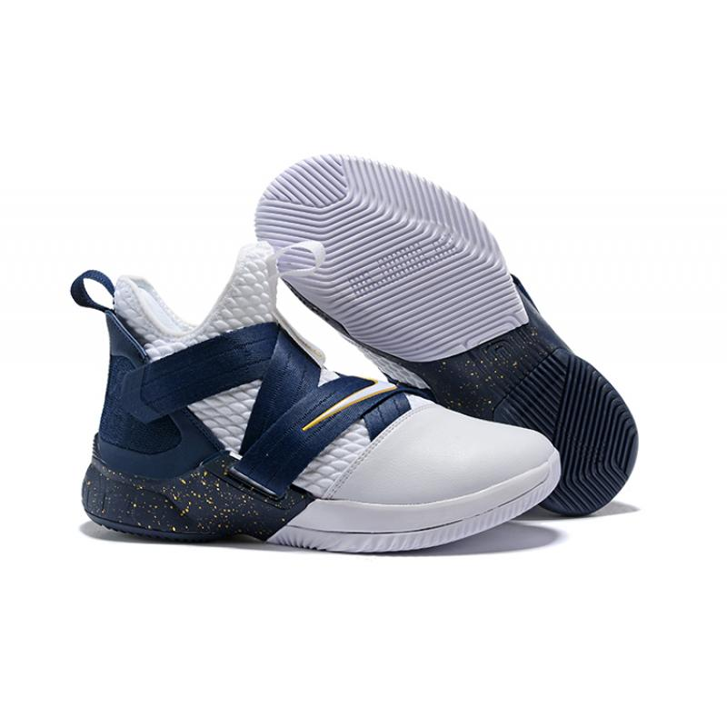 best service 0c57a fb40f Best Nike LeBron Soldier 12 White Midnight Navy-Mineral Yellow ...