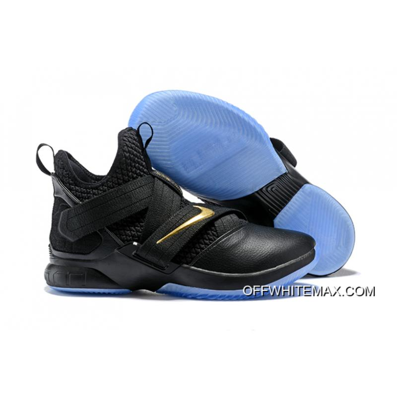 new product 128d7 c5ef4 Nike LeBron Soldier 12 Black Glod Discount