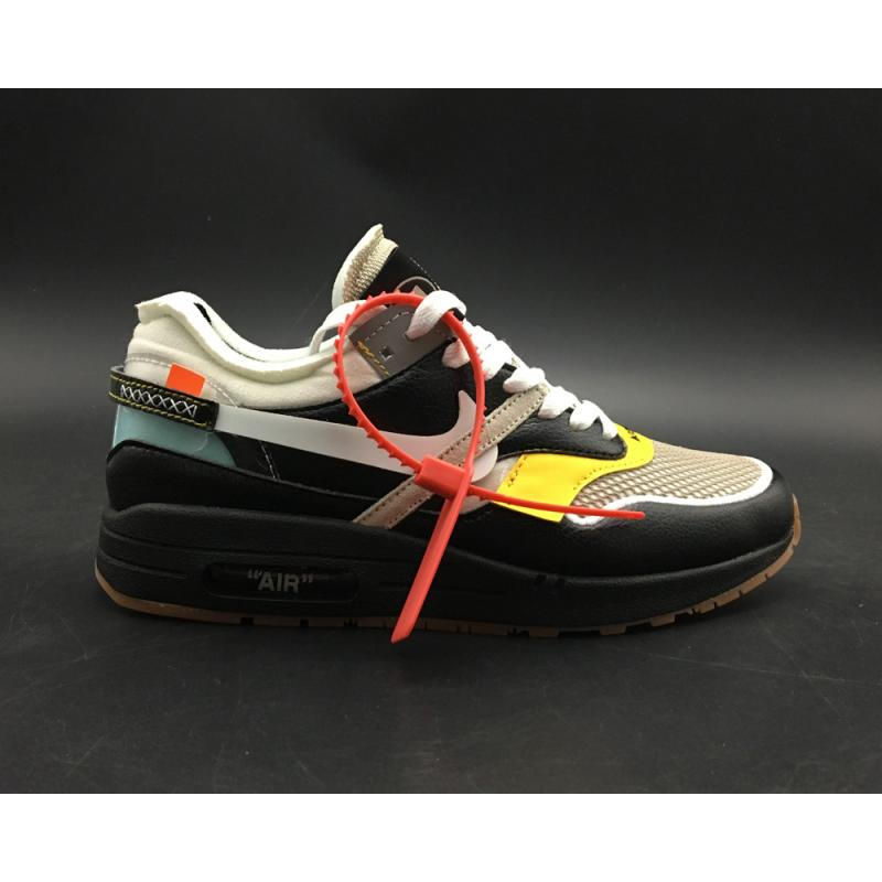a316a026393b Virgil Abloh X BespokeIND X Off-White X Nike Air Max 1s Black Leather  Latest ...