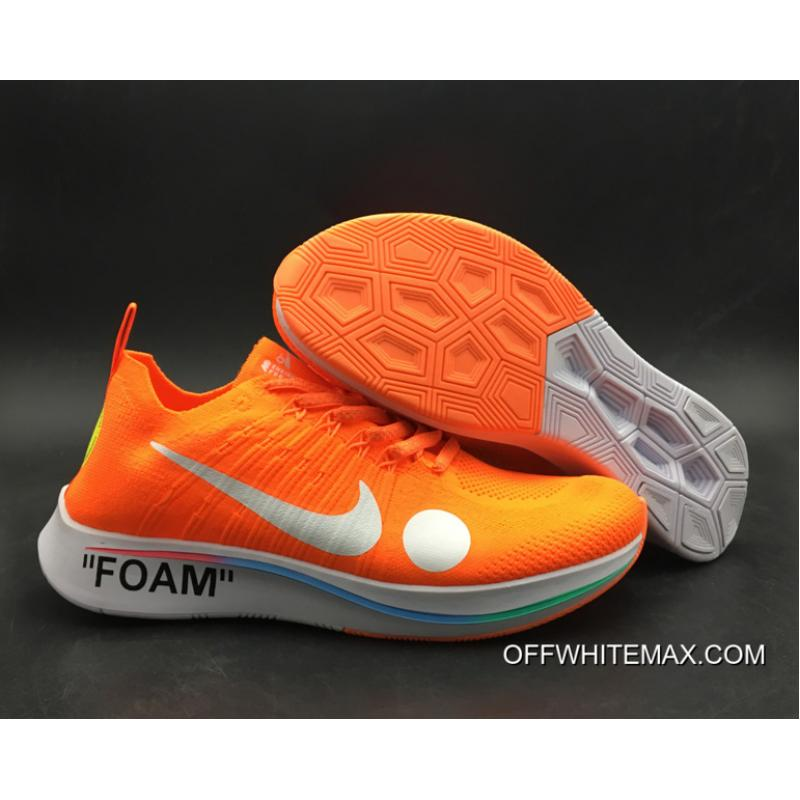 new styles 27a75 44ee2 Big Deals Off-White X Nike Zoom Fly Mercurial Flyknit Total Orange White ...