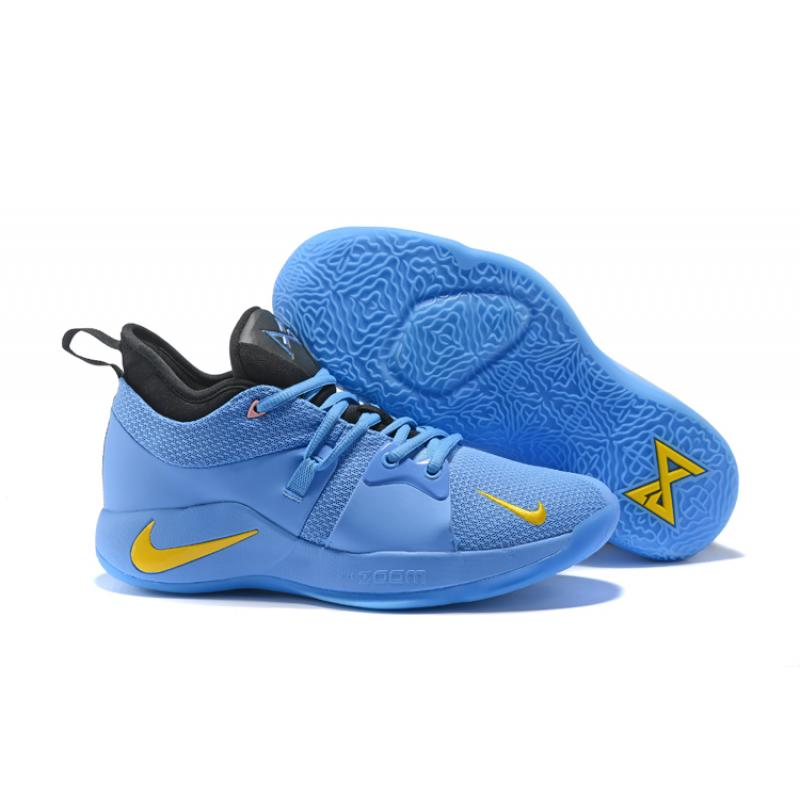 Nike PG 2 Light Blue And Yellow Super Deals ...