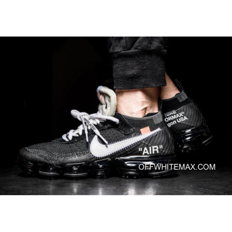 OFF-WHITE X Nike Air VaporMax Black And White-Clear-White Free Shipping ...