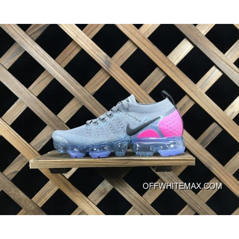 Nike Air VaporMax Flyknit 2.0 Gunsmoke Blue Orbit Pink Blast Latest ... e0641266b