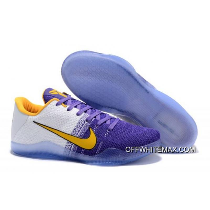 new products 1ccef f6218 Top Deals Nike Kobe 11 PE  Autographed  White And Purple Yellow ...