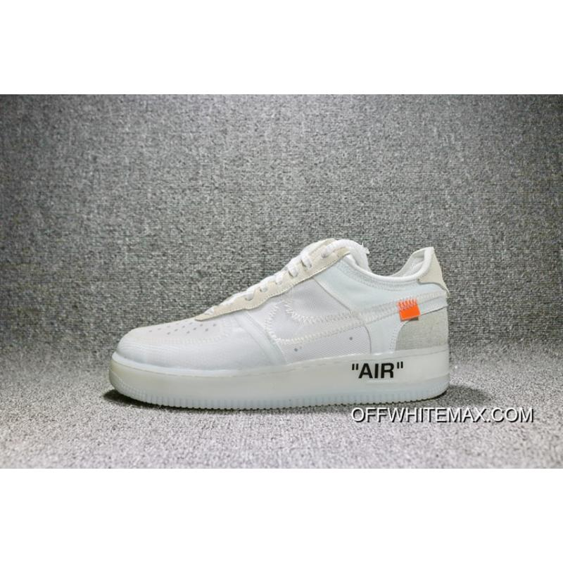 reputable site 94e32 0b023 OFF-White X Nike Air Force 1 Low One Low Joint AO4606-100 Women ...