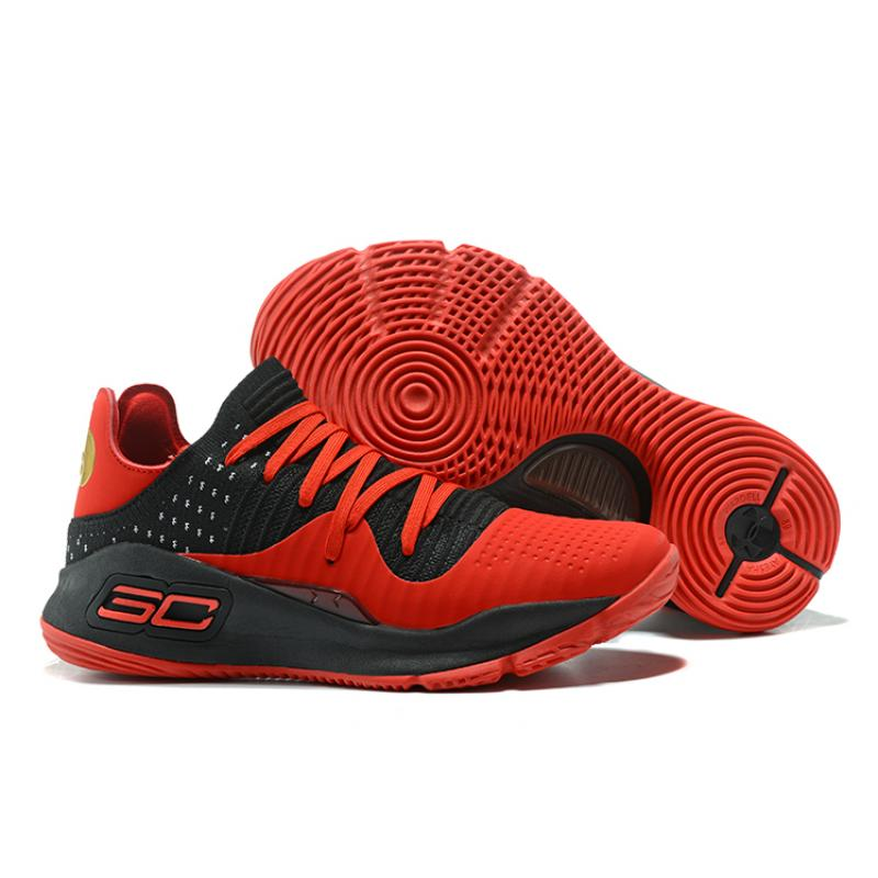 38f5f4be0faa New Style Under Armour Curry 4 Low Red Black ...
