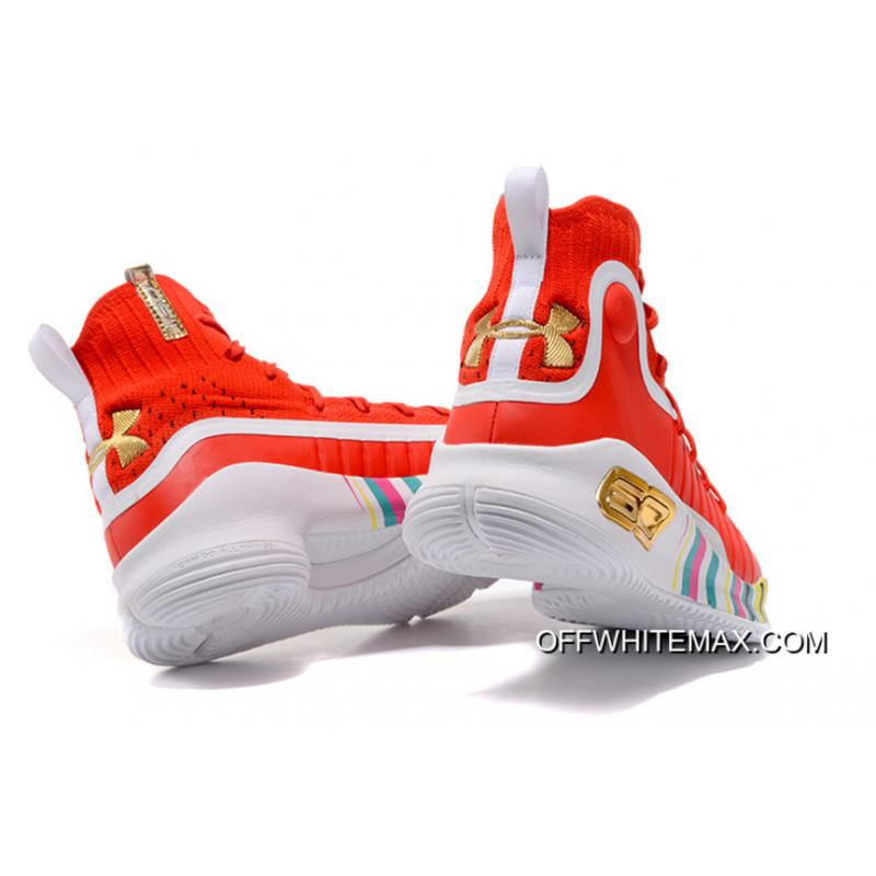 """d34d3f027a04 ... For Sale Under Armour Curry 4 """"Year Of The Rooster"""" Red White Multi ..."""