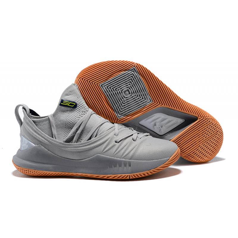 Online Under Armour Curry 5 GreyGum ...